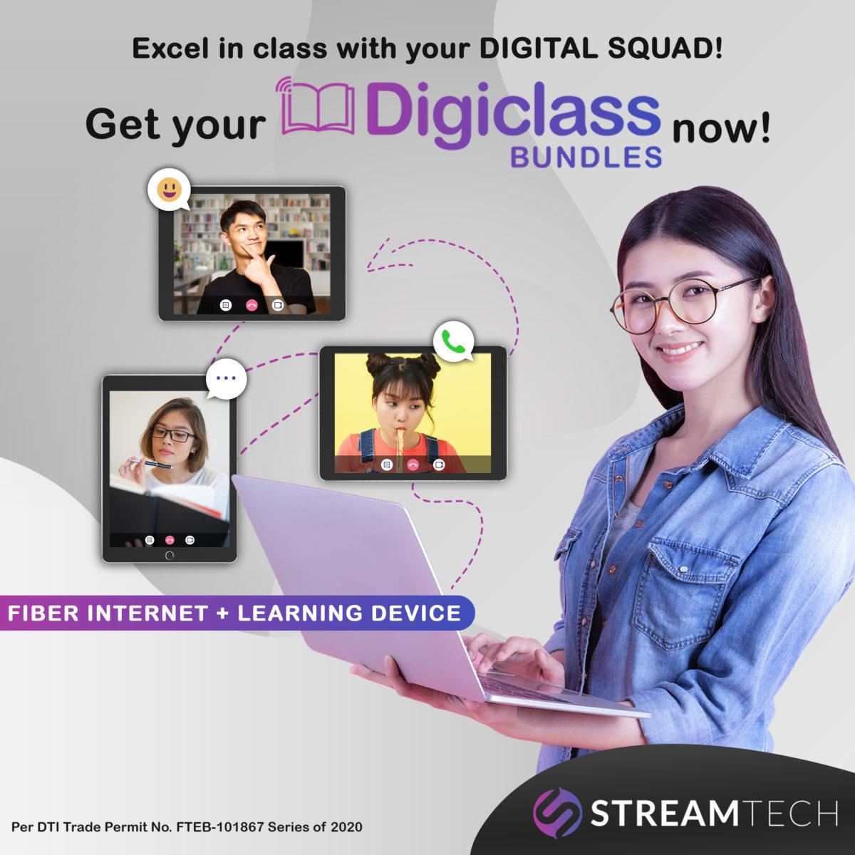 Excel in Your Online Class with Streamtech Fiber Internet's Digiclass Bundles