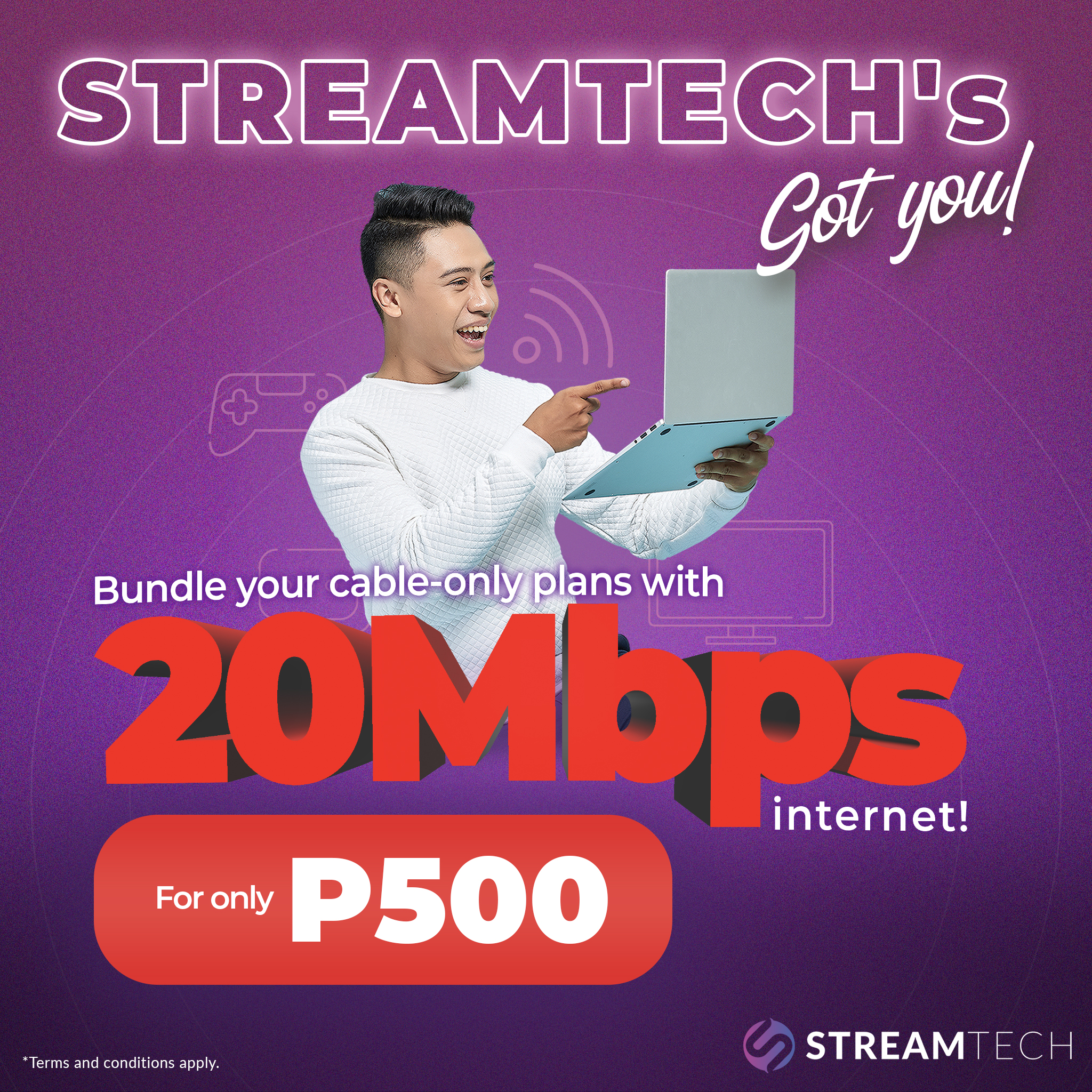For only PhP 500, You'll Get 20 Mbps of Fiber Internet with Streamtech