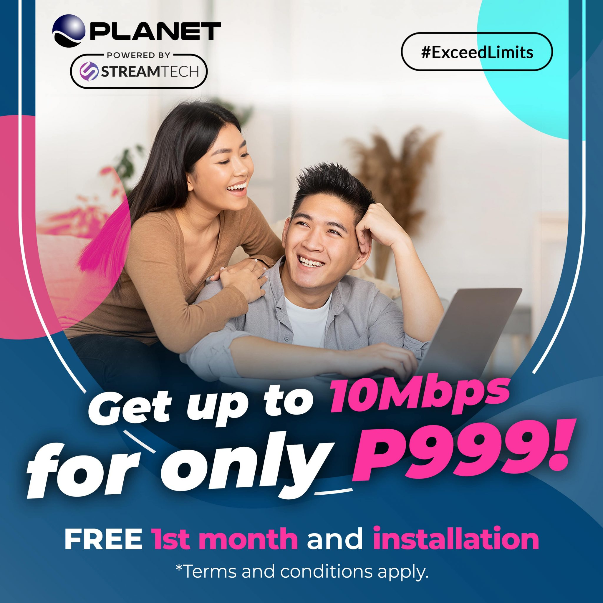 Bria tenants can avail of Streamtech Fiber Internet's special promo, through Planet Cable