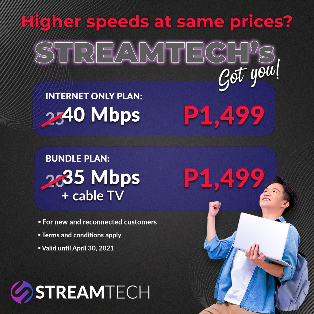 Streamtech's Faster Fiber Internet Promo is Here for better connectivity