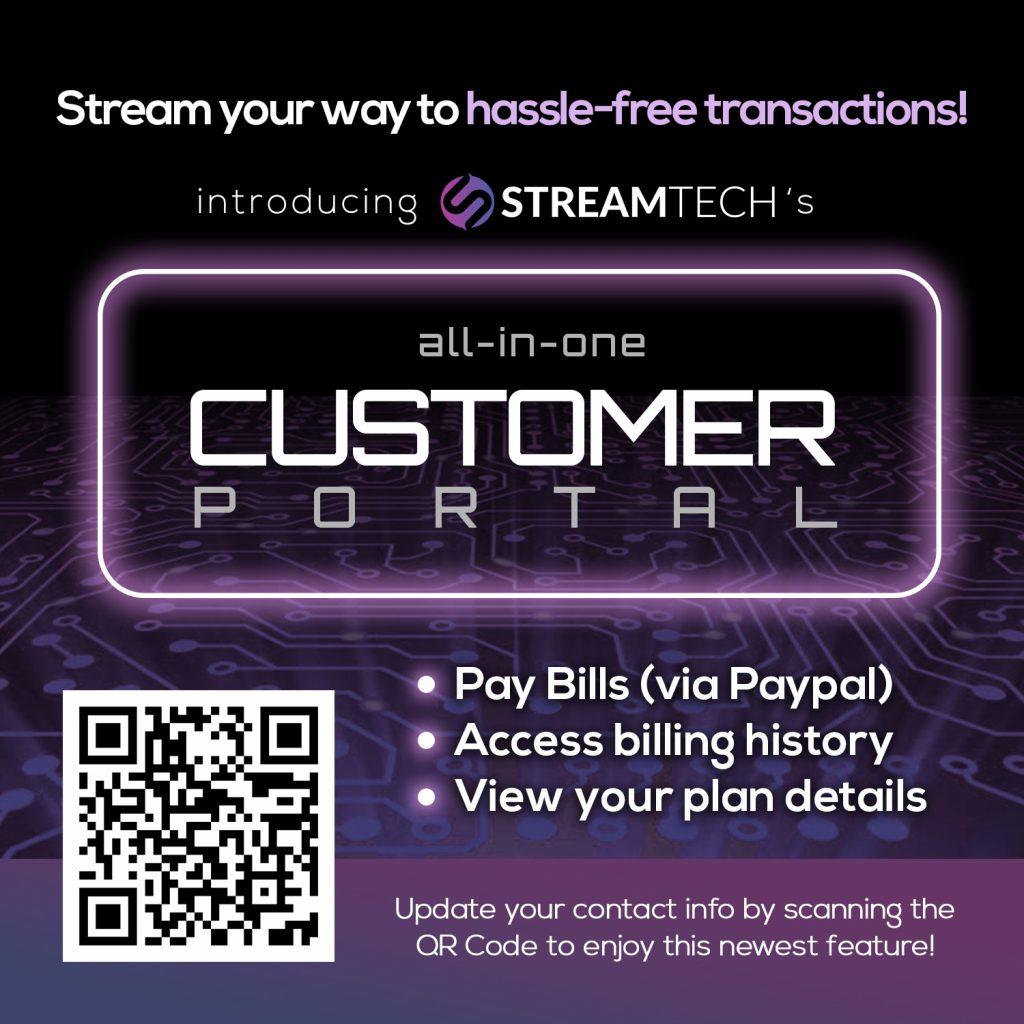 Update your info - fiber internet - Streamtech