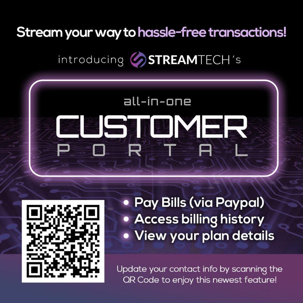Streamtech all-in-one customer portal