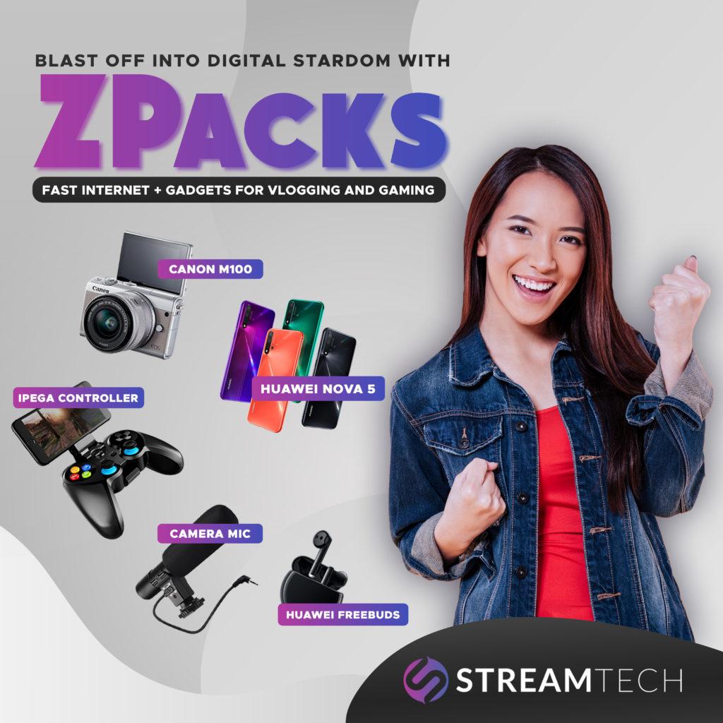 zpacks vlogging and gaming kits - affordable home fiber plan - streamtech