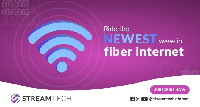 Get cybersecurity by connecting with Streamtech Fiber internet