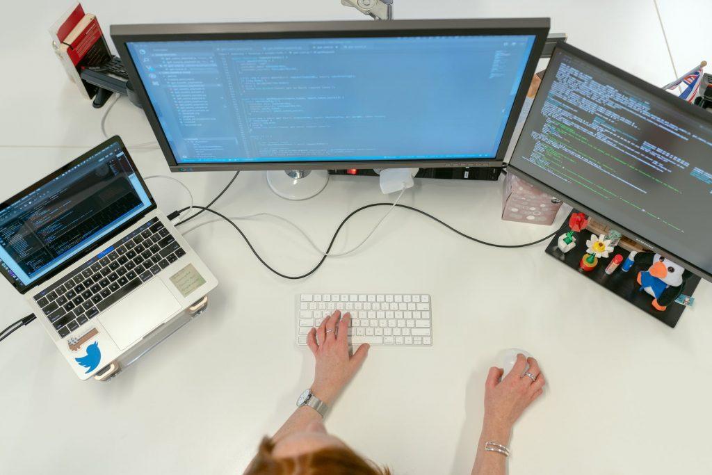 working on computer - wifi vs internet - streamtech fiber internet