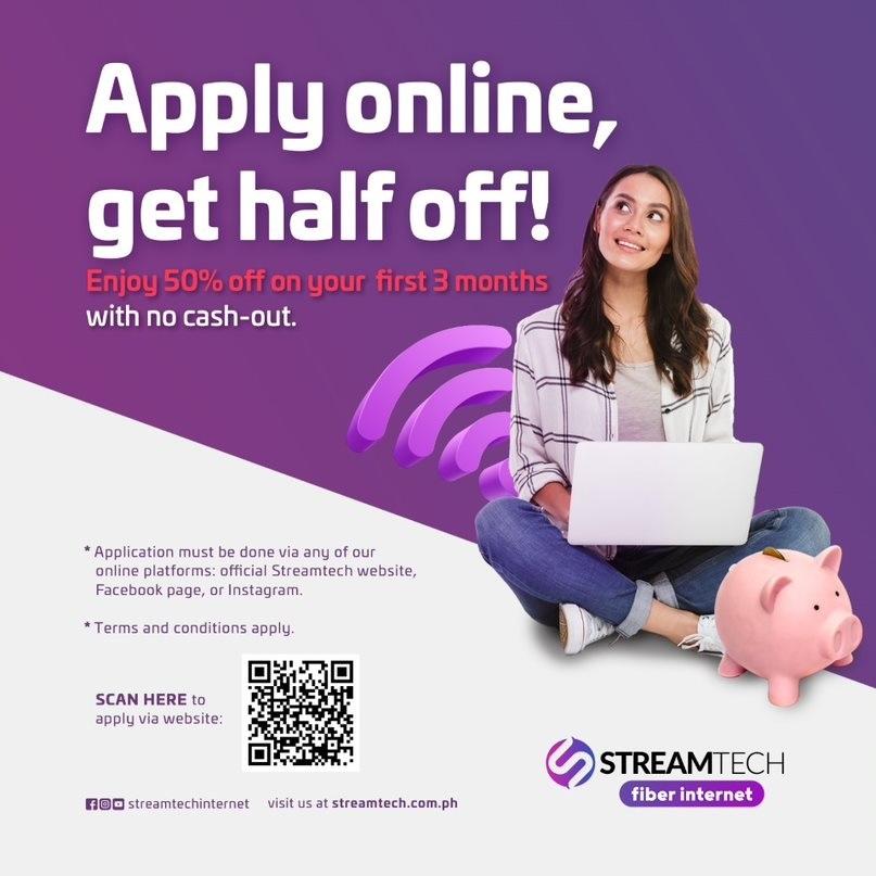 Big savings promo - Apply online - Streamtech Fiber Internet