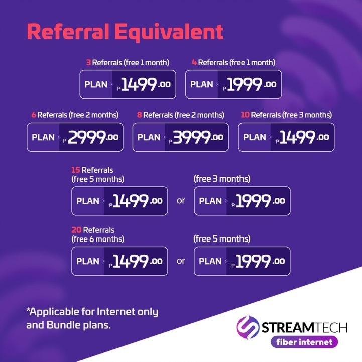 referral promo - Streamtech Fiber Internet