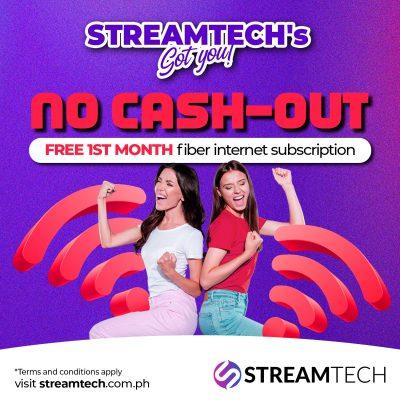 Streamtech - no cash oout - promo